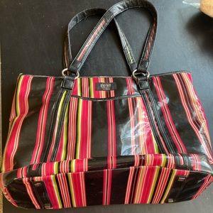 Striped Gigi Hill Zippered Tote Bag